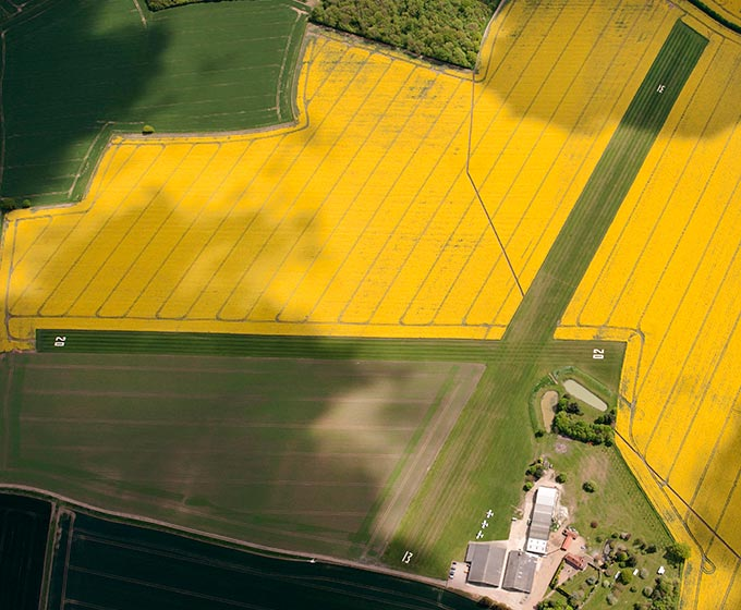 Crowfield Airfield, Suffolk from the air